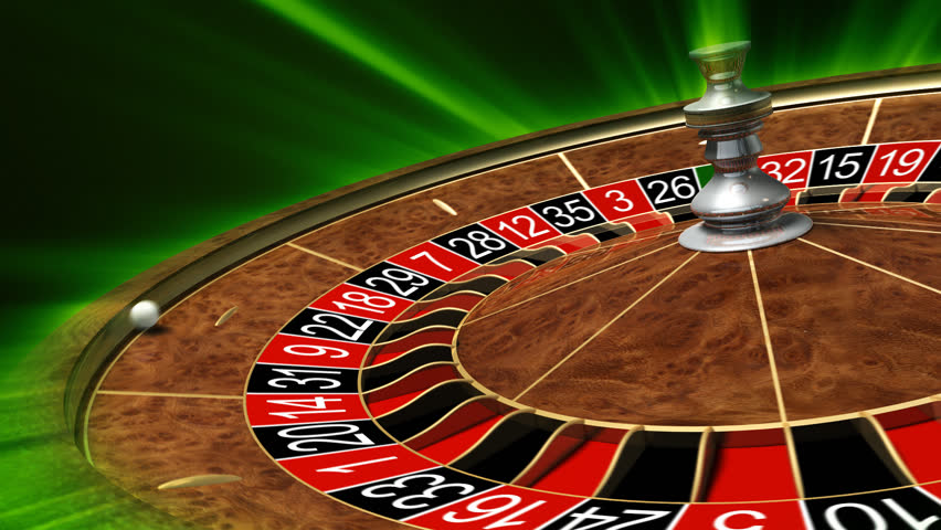 Video of a roulette wheel spinning us and online gambling