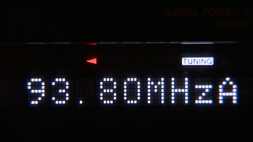 Digital radio receiver fm tune dial panel