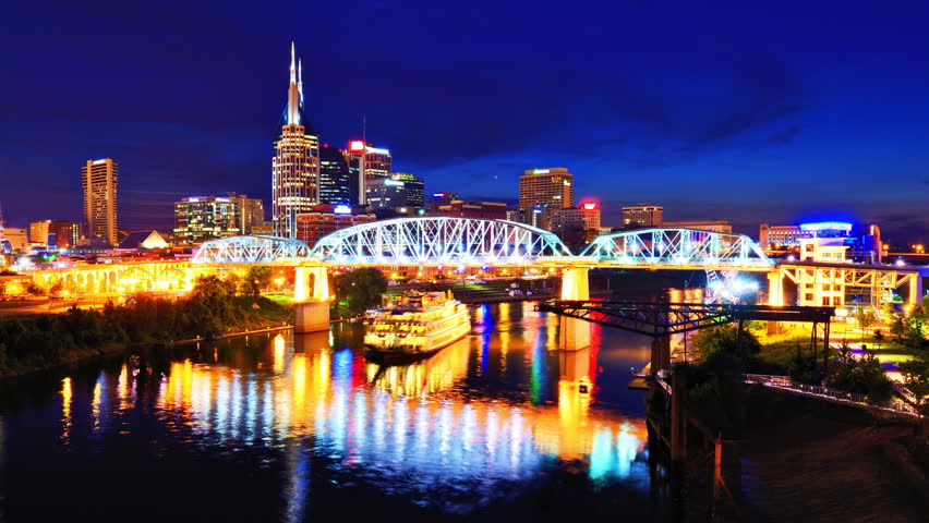 Downtown Nashville Tennessee Usa Time Lapse Stock
