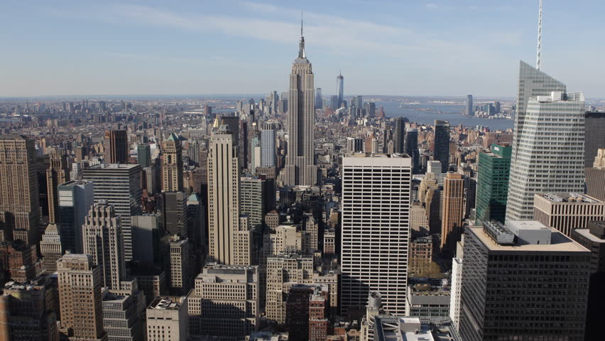 Aerial view of Empire State Building Manhattan New York USA Stock ...