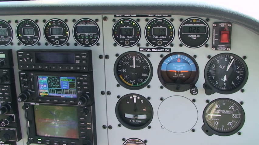 Papua New Guinea, small airplane cockpit