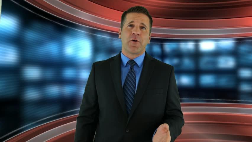 Header of newscaster