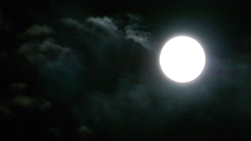 Full moon at night with cloud real no CG | Shutterstock HD Video #4133362