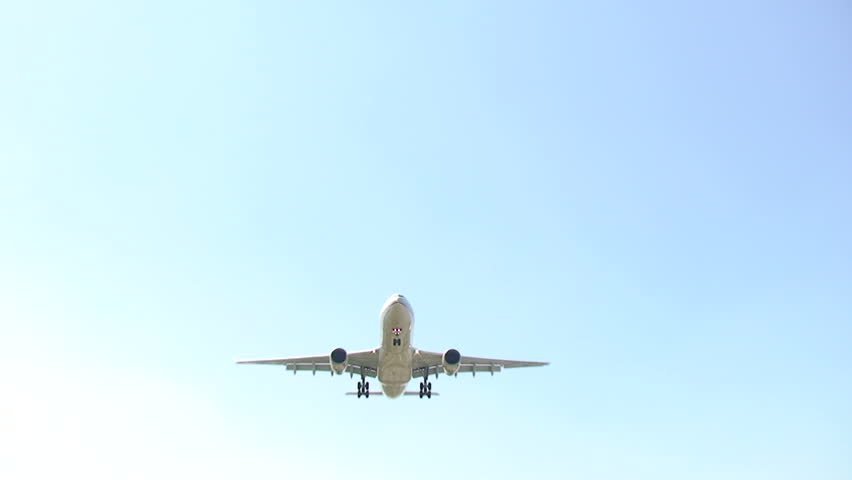 Airplane approach for landing. Find similar clips in our portfolio.