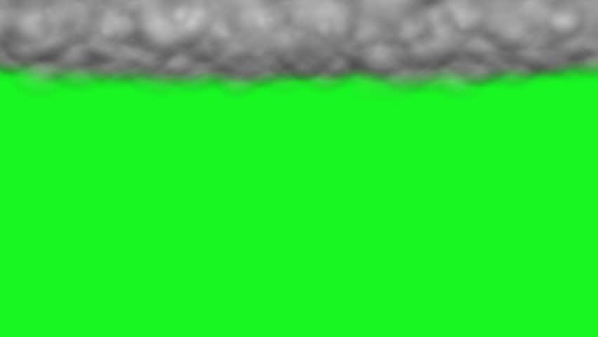 The rain cloud animation green screen02