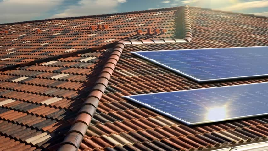 Solar panels on roof top