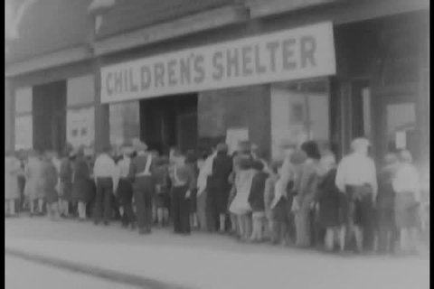 1930s - Poor children are fed by the state in 1931.