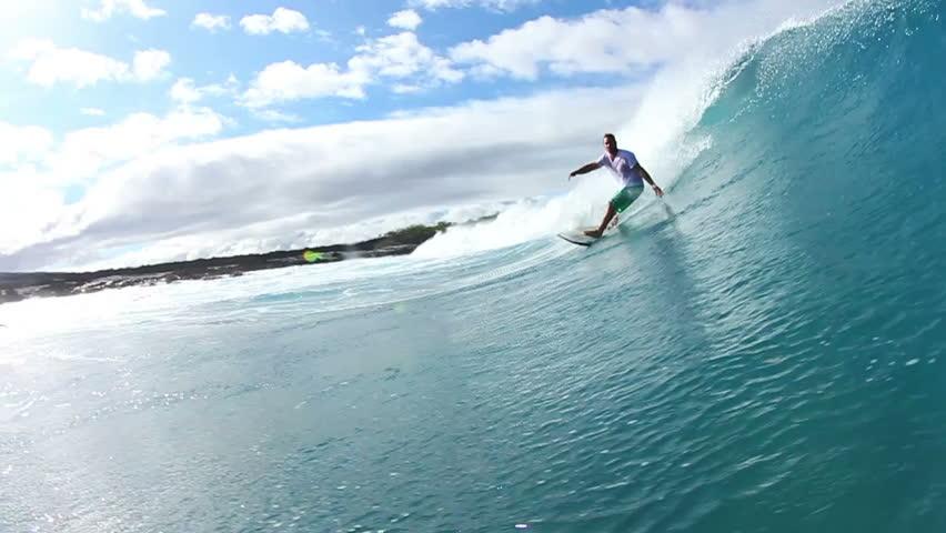 Surfer Does Turn Water Shot  | Shutterstock Video #4342880