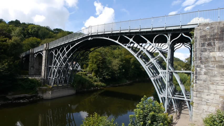 The Iron Bridge At Ironbridge England Famous Cast Built In 1779 Over River Severn