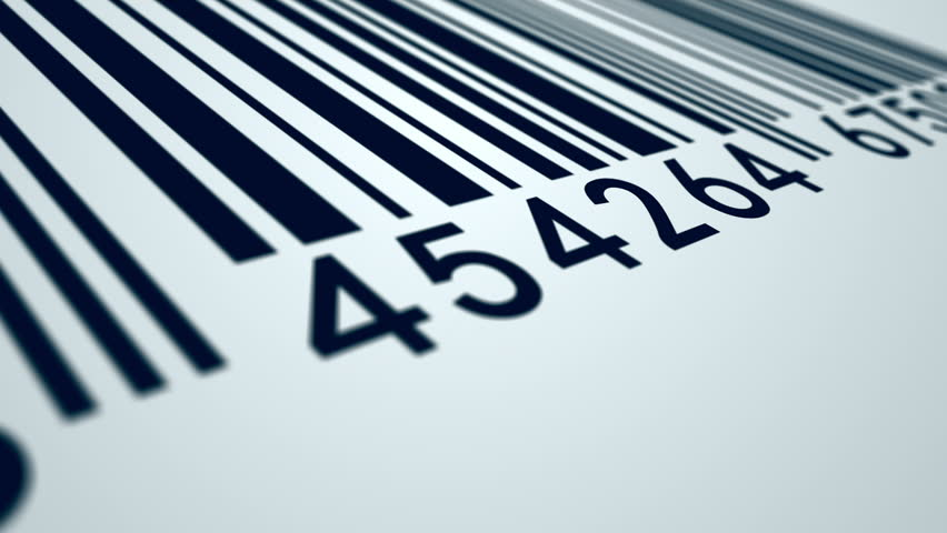 EAN barcode is used in retail across the Europe. Animation presents a barcode on a white background, being scanned by barcode reader. | Shutterstock HD Video #4363862