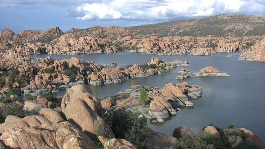 Scenic Watson Lake Prescott Arizona Hd Stock Video Clip