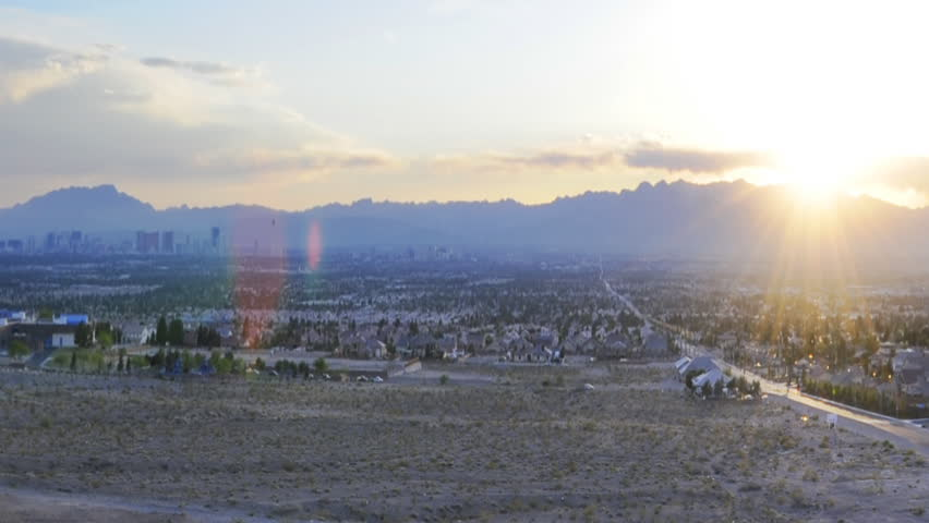 High definition time lapse of a sunset in las vegas city shot from a high view. | Shutterstock HD Video #444022