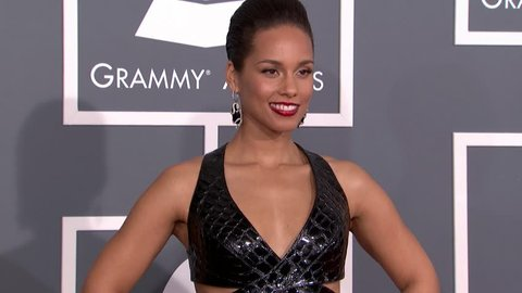 LOS ANGELES - February 10, 2013: Alicia Keys at the Grammy Awards 2013 in the Staples Center in Los Angeles February 10, 2013