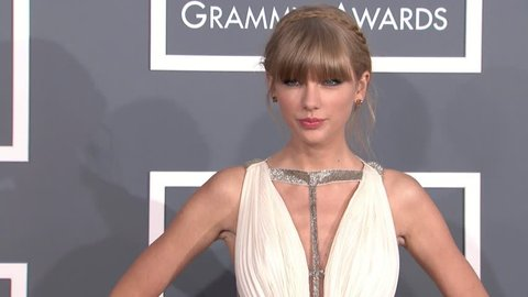LOS ANGELES - February 10, 2013: Taylor Swift at the Grammy Awards 2013 in the Staples Center in Los Angeles February 10, 2013