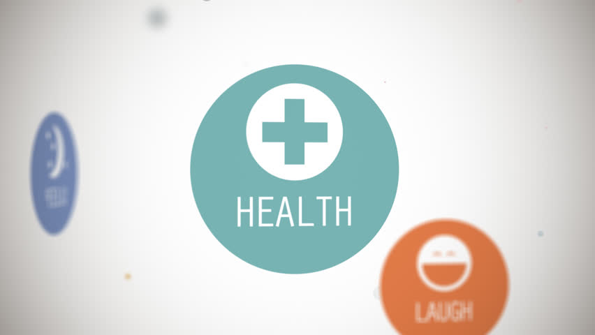 Colorful vector images animation of terms related to health and wellness. Perfect for conceptual healthy lifestyle presentations. #4466465