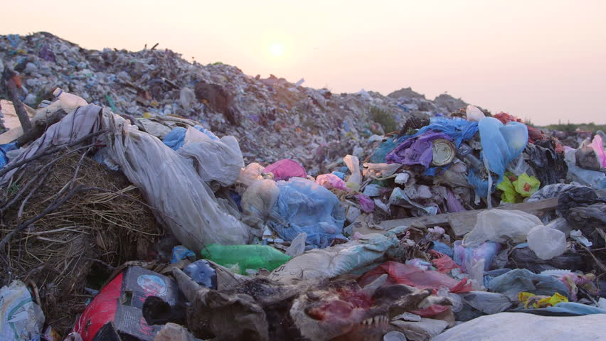 DOLLY: Urban Refuse Dump At Sunset | Shutterstock HD Video #4492898