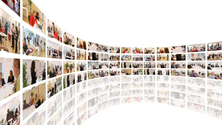 Business Media Wall Montage  a Stock Footage Video (100% Royalty-free)  4493762 | Shutterstock