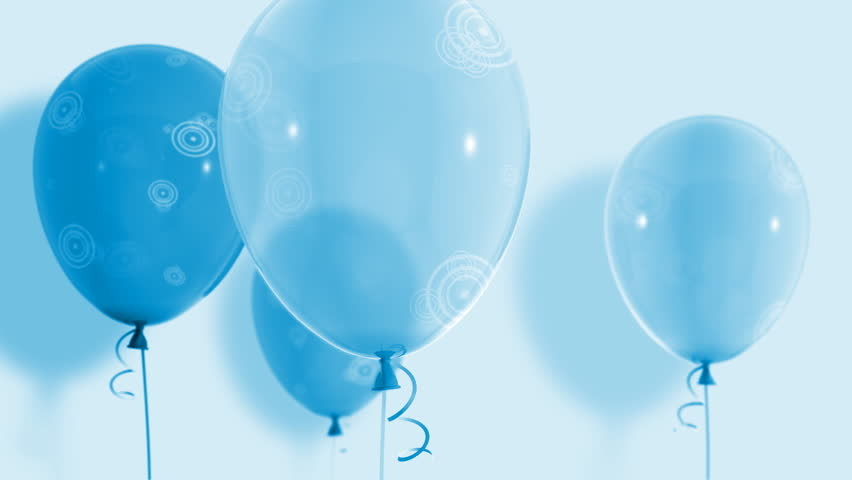 Blue Balloon Rises Cycle Animation Stock Footage Video 100 Royalty