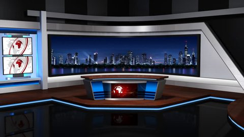 The real TV news studio,Loopable,