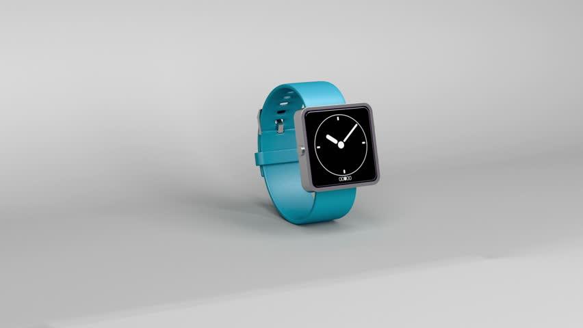 Smart watch on gray background