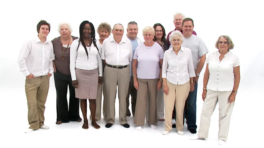 Group Of People On White Stock Footage Video 100 Royalty