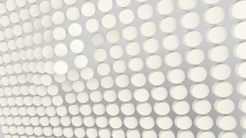 3D TEXTURE WHITE ROUND
