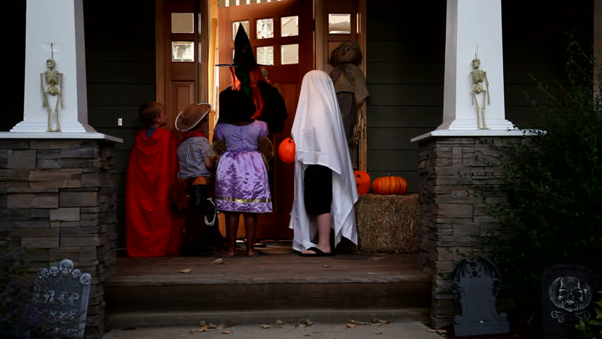 Children in Halloween costumes | Shutterstock HD Video #4549955
