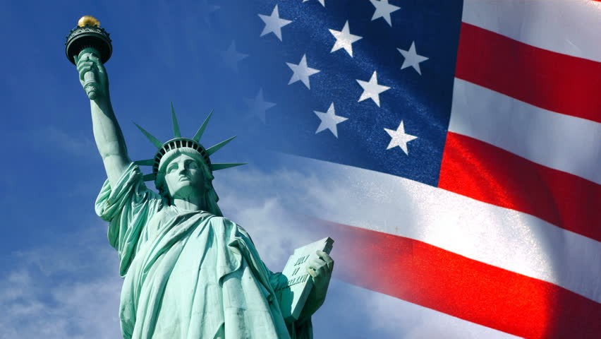 Statue Of Liberty And United Stock Footage Video 100 Royalty Free 4587662 Shutterstock