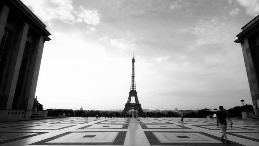 beautiful 4k uhd timelapse of the trocadero square in paris france stock footage video 14500672. Black Bedroom Furniture Sets. Home Design Ideas
