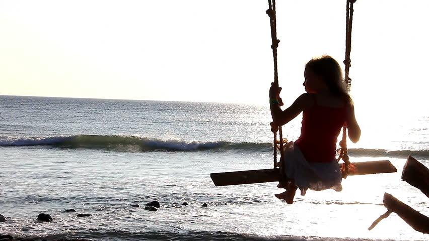 Girl swings
