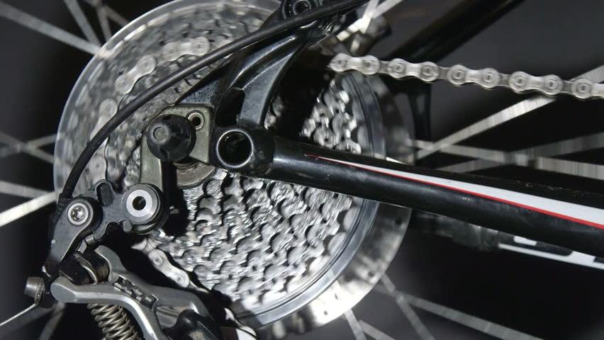 Bike detail in motion