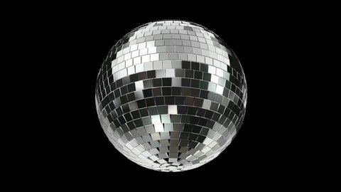 Disco Mirrorball, Discoball, turning, incl. Alpha / Matte