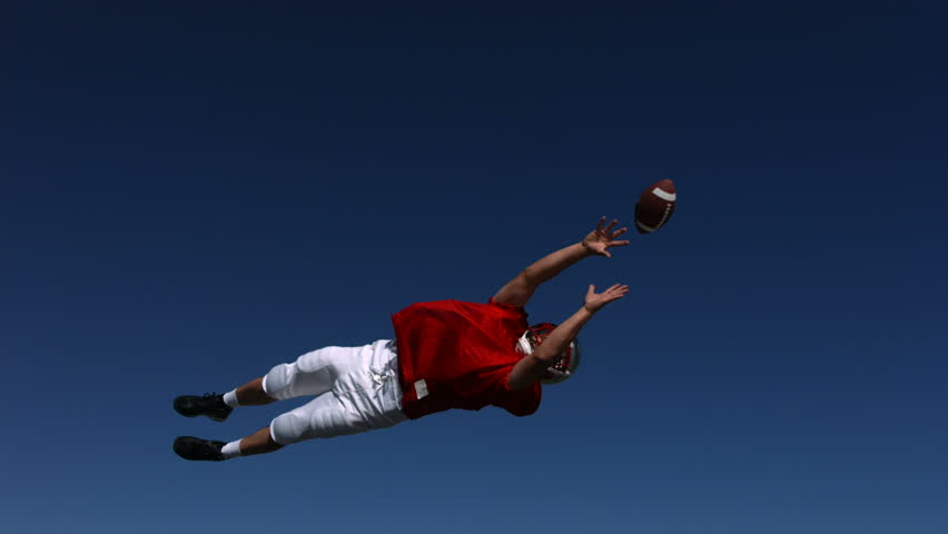 Football player misses catch, slow motion #4656182