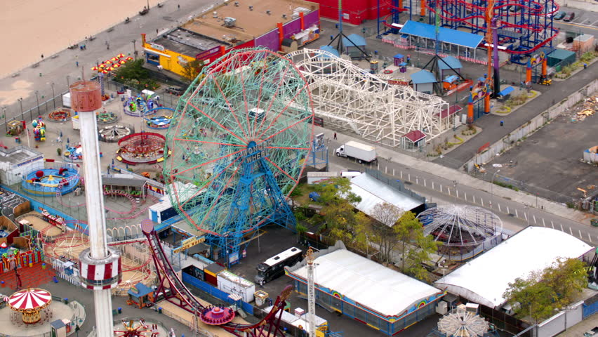 Aerial view of Coney Island, New York City