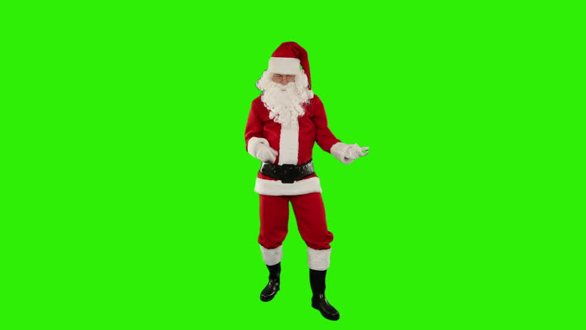 Santa Claus Dancing isolated, Dance 2, Green Screen #4669532