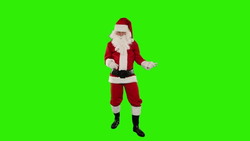 Santa Claus Dancing isolated, Dance 2, Green Screen #4669532