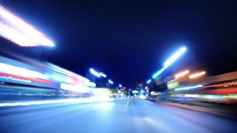 Driving POV Timelapse 10 LA Night Non Stop VJ Loop