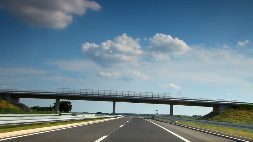Cars Truck Driving Beautiful Scenic Desert Highway Road Freeway ...