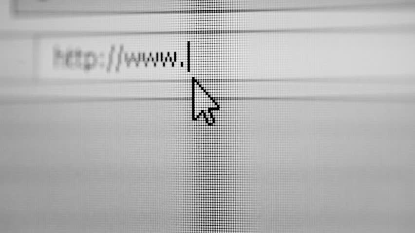Video 1920x1080 - Computer mouse pointer indicates the address bar of a web browser