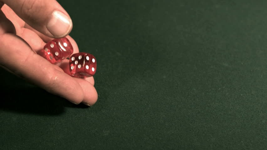 Rolling the dice, slow motion