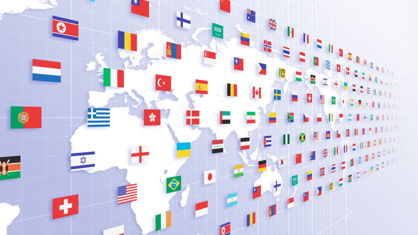 Flags world map stock footage video 474232 shutterstock gumiabroncs Image collections