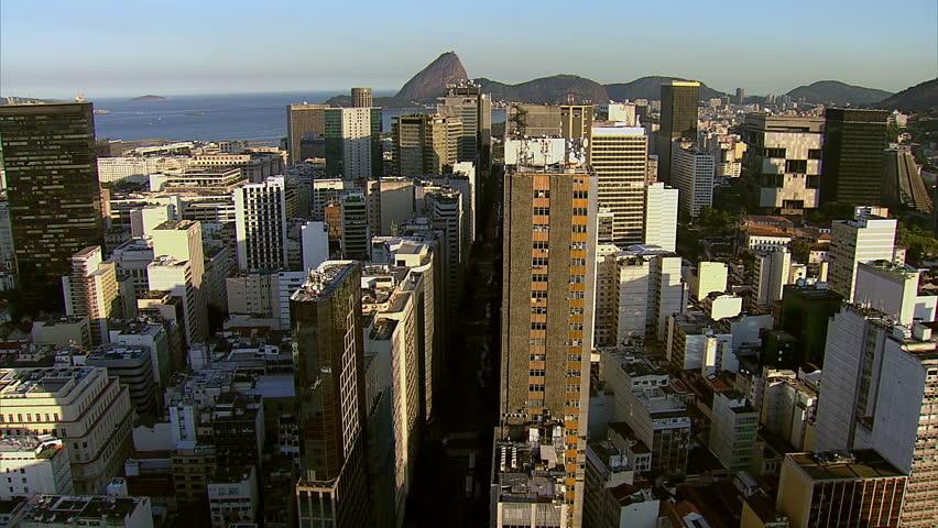 Flying over Rio de Janeiro city, Brazil