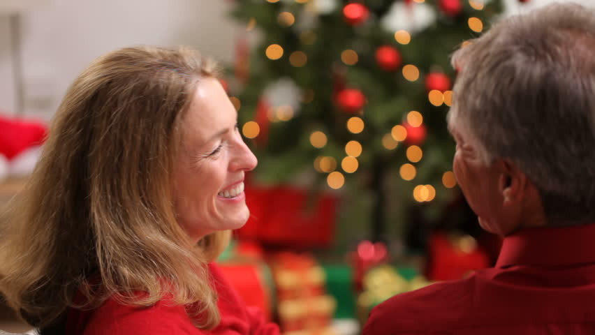 Senior couple and mistletoe | Shutterstock HD Video #4762172