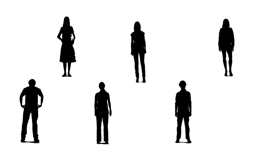 Standing crowd silhouette - photo#37