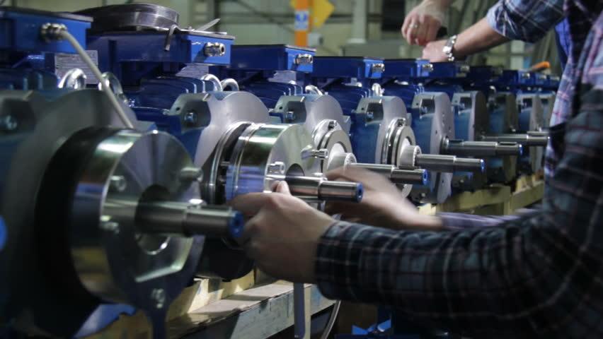 Motor production line