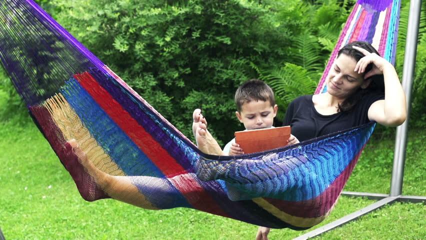 Swinging in a hammock #1