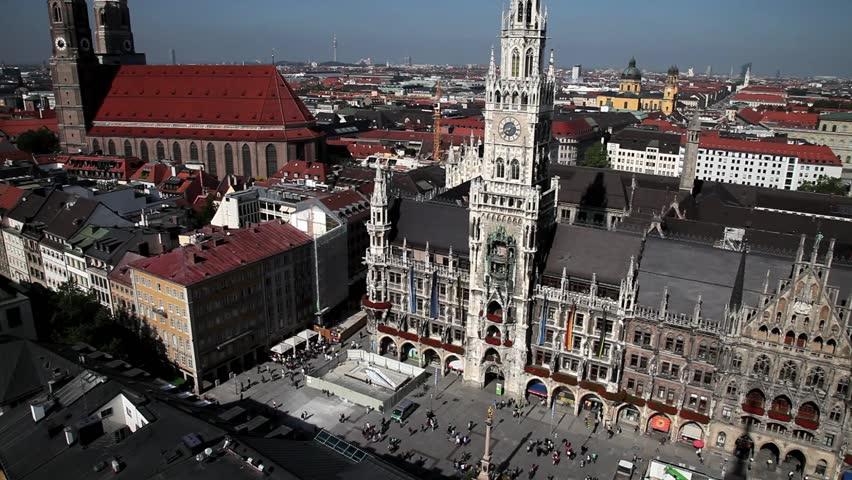 New City Hall, Marienplatz, Munich, Bavaria, Germany.