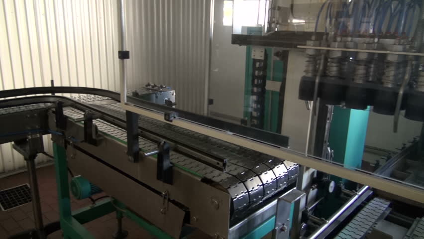 Conveyor construction in new modern beer brewery   Shutterstock HD Video #4864412