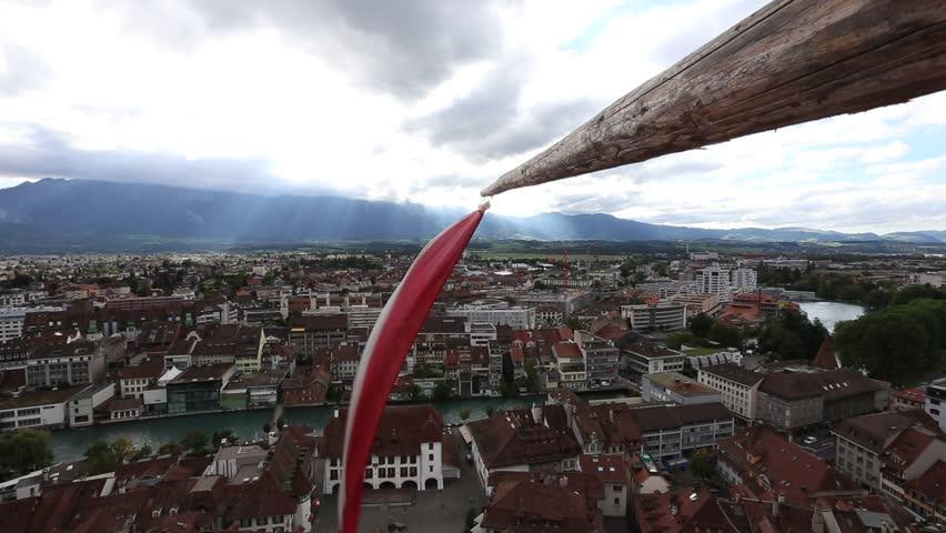 City Of Thun Canton Of Bern Switzerland Viewed From Thun Castle
