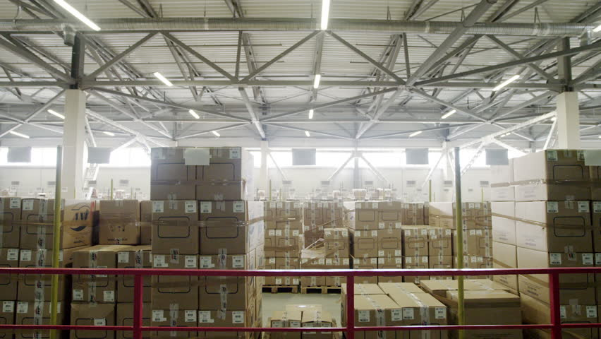 Large warehouse logistics terminal